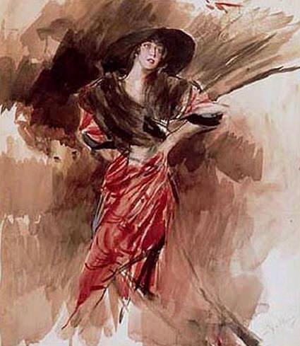 """Букет """"Дама в красном платье"""""""