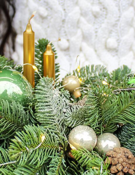 """Композиция новогодняя """"Изумруд"""""""