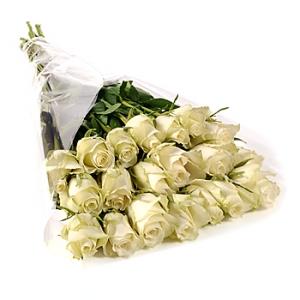 Букет большой из белых роз