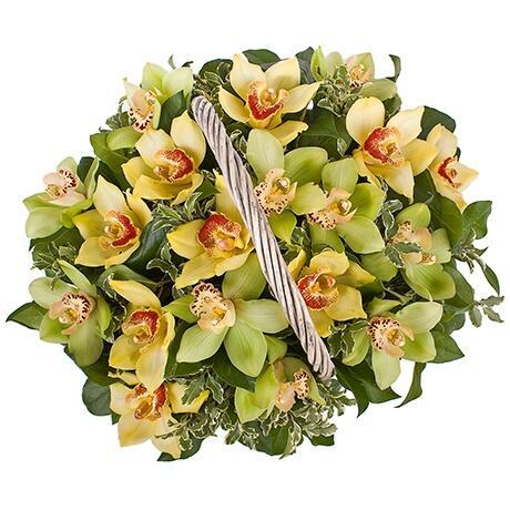 Корзина цветов ''Райский сад''