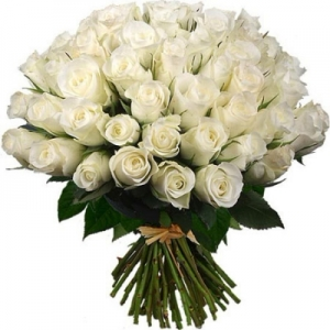 из 51 белой розы
