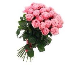 из 25 розовых роз