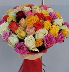 из 51 розы микс