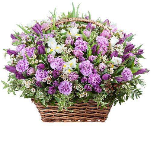 """Корзина цветов """"Сливочный вкус"""""""