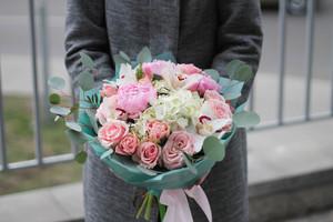 "Букет ""Розовая гавань"""