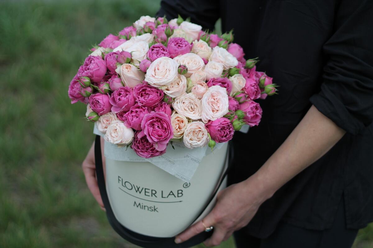 """Цветы в коробке """"Бомбастик"""""""