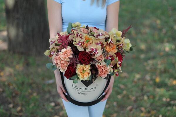 "Цветы в коробке ""Каралуна"""