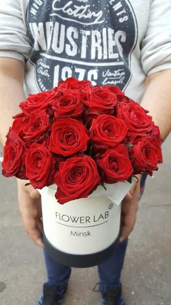 "Цветы в коробке ""Красная роза"""