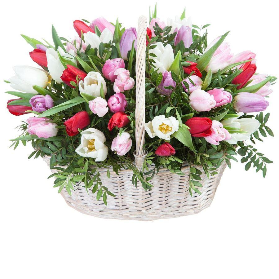 """Цветы в корзине """"Анабель"""""""
