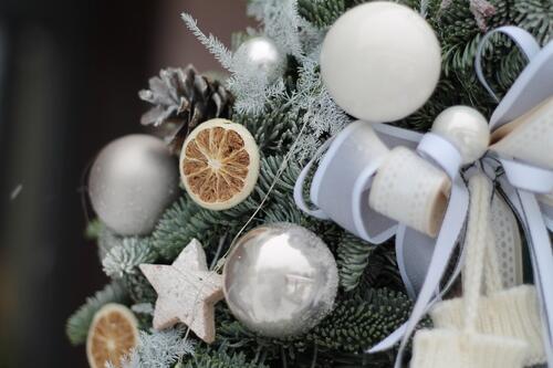 "Рождественский венок ""Варежка"""