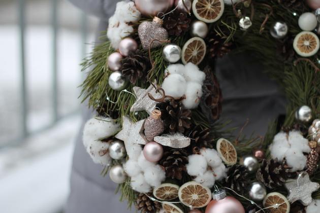 """Новогодний венок """"Снежинка"""""""