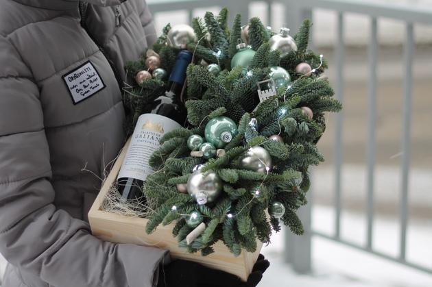 """Оформление бутылки вина """"Перламутр"""""""