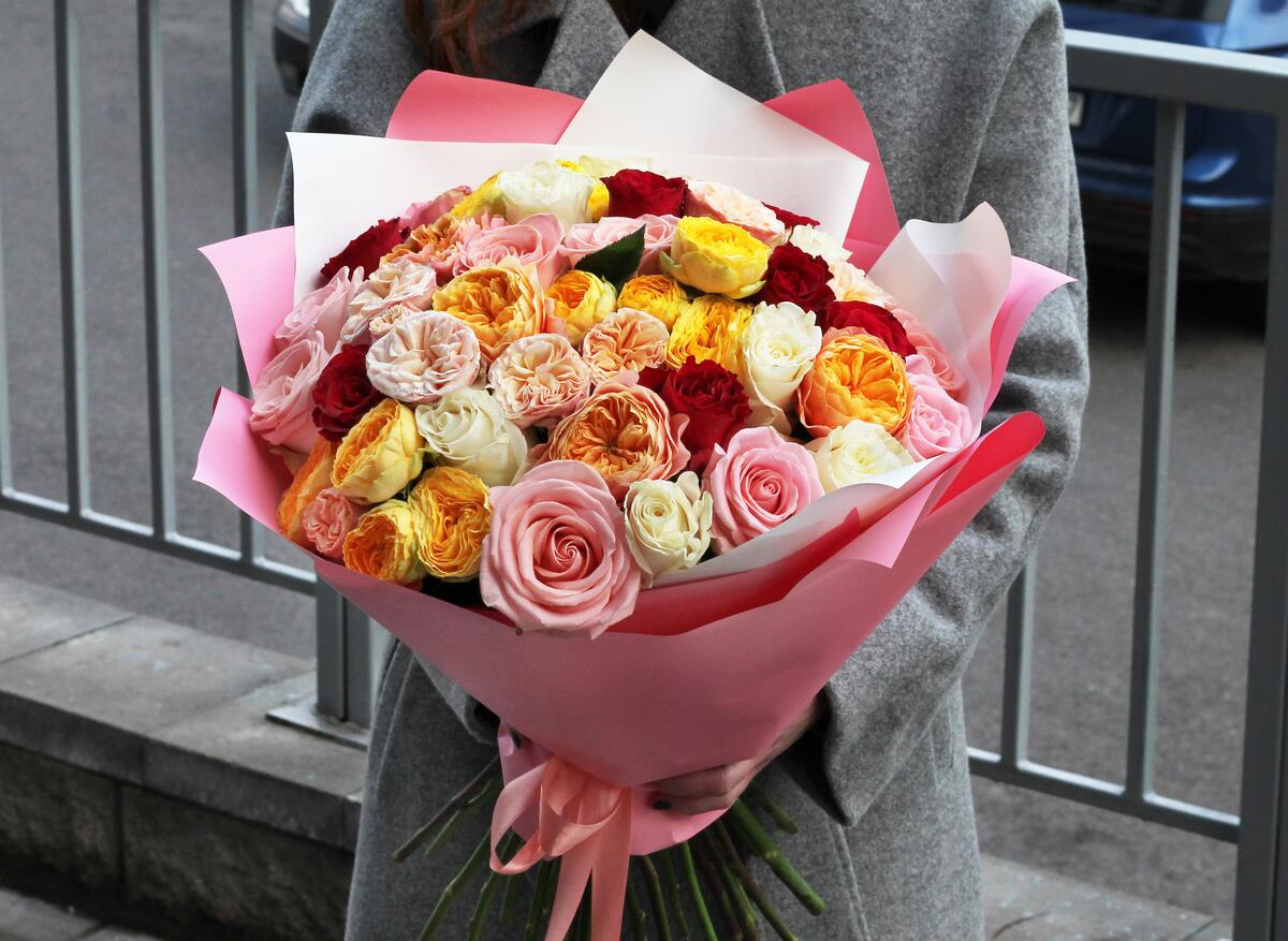 Букет из розы микс