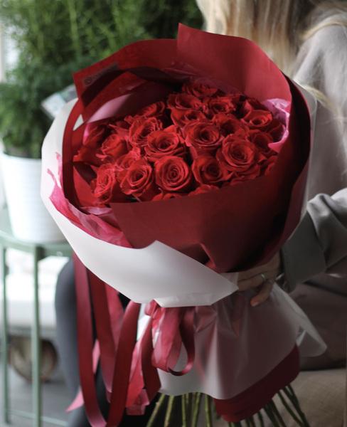 Монобукет из роз Фридом