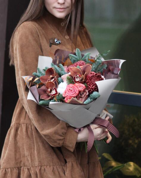 """Букет """"Шоколадный Цимбидиум"""""""