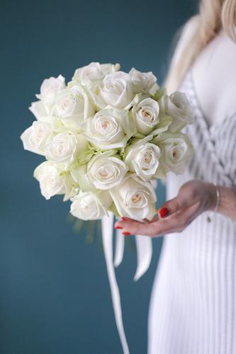 """Букет невесты """"Белоснежное кружево"""""""