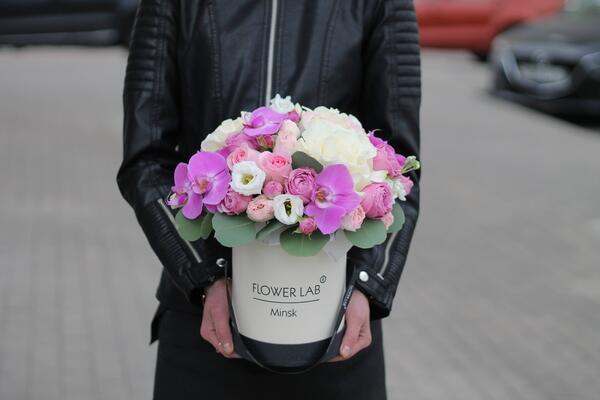 """Цветы в коробке """"Афина"""""""