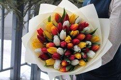 """Букет """"Нежный поцелуй"""" из тюльпанов"""