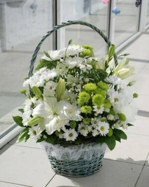 Корзина цветов ''Хрустальное сияние''