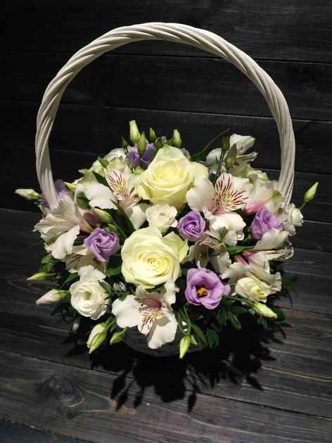 Корзина с цветами ''Счастливый день''