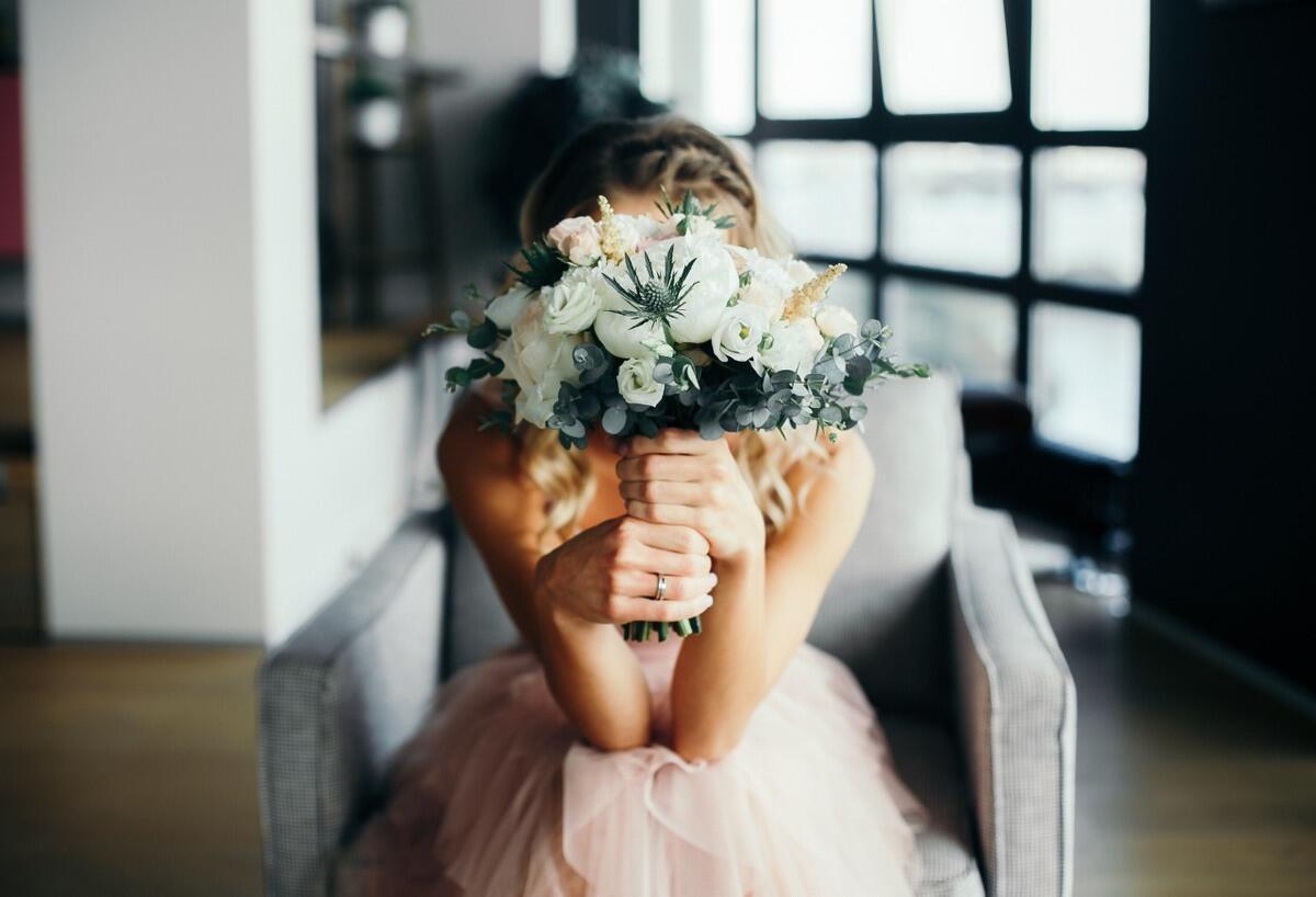 """Букет невесты """"Пудра"""""""