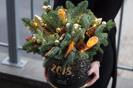 Новогодняя коробочка с нобилисом и апельсином