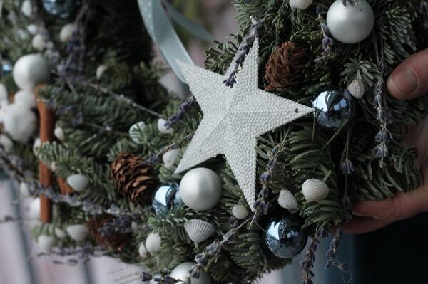 """Рождественский венок """"Звезда"""""""