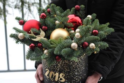 "Новогодняя коробочка ""Птица счастья"""