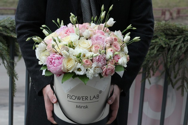 """Букет цветов в коробке """"Аромат"""""""