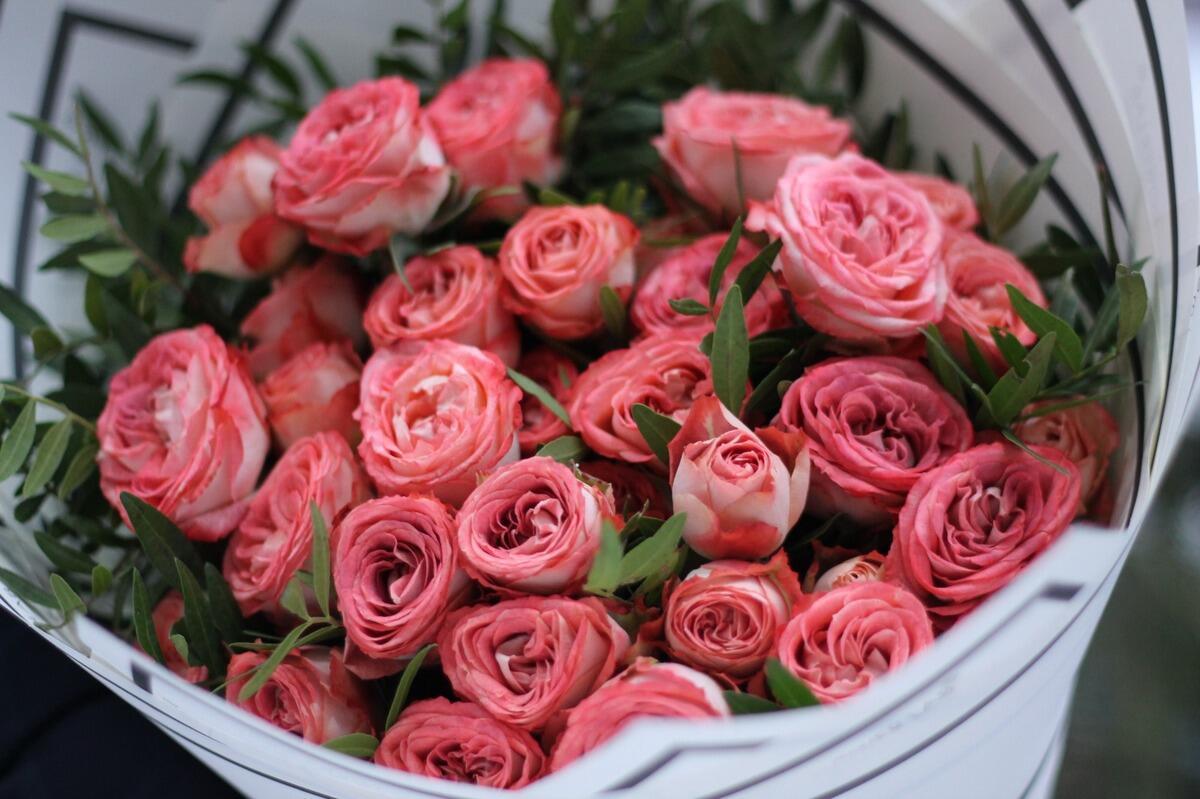 """Букет из роз """" Капучино"""""""