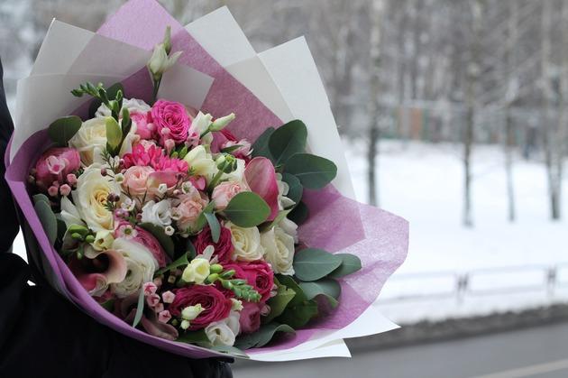 """Букет """"Ванильно-розовый"""""""